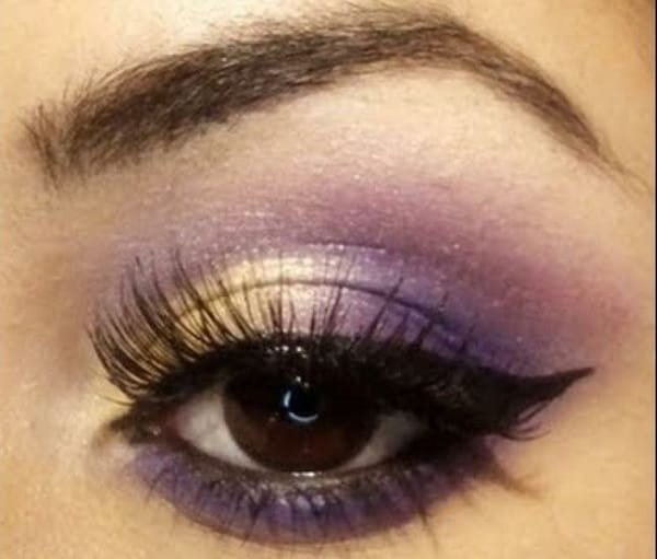 Gold and Purple Dual Eyeshadow