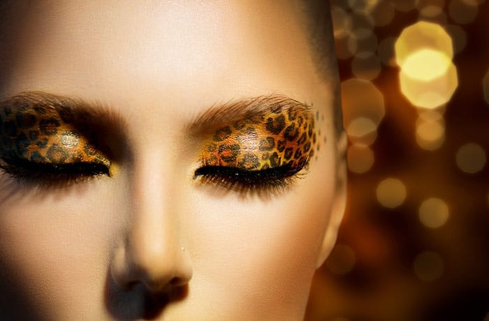 Leopard Print Gold Eye Makeup