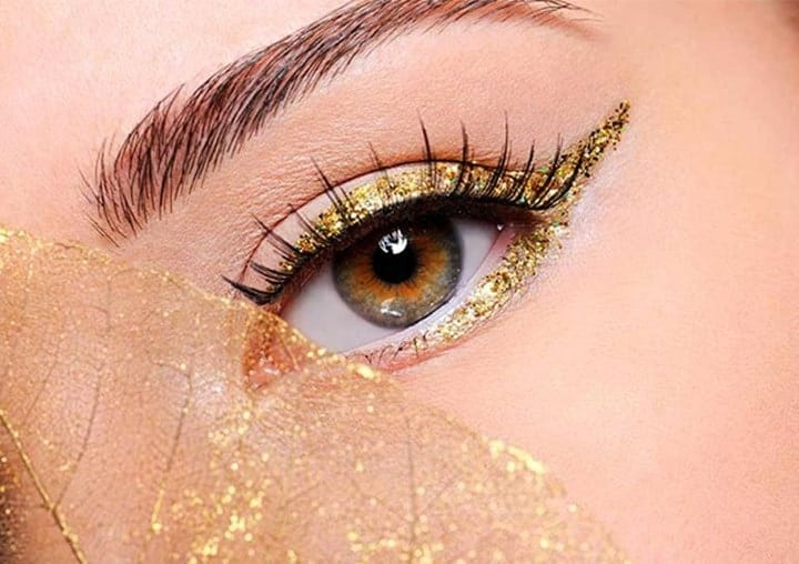 Golden Eyeliner makeup look