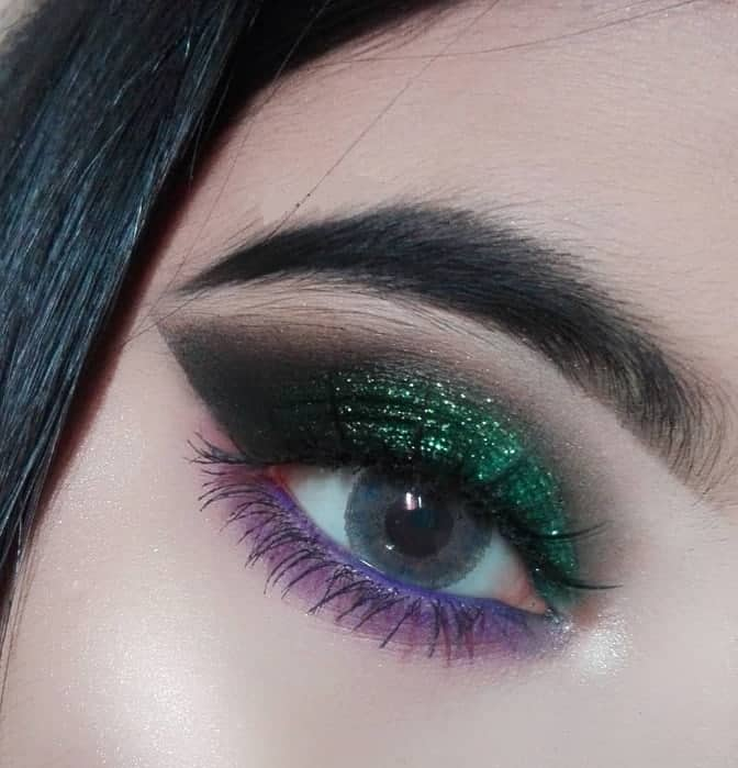 smokey green eye shadow for women