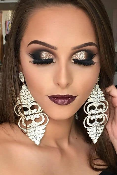 smokey eye makeup for black dress