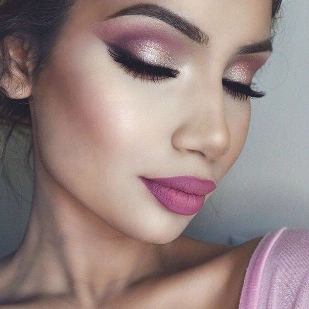 best makeup ideas for pink dress