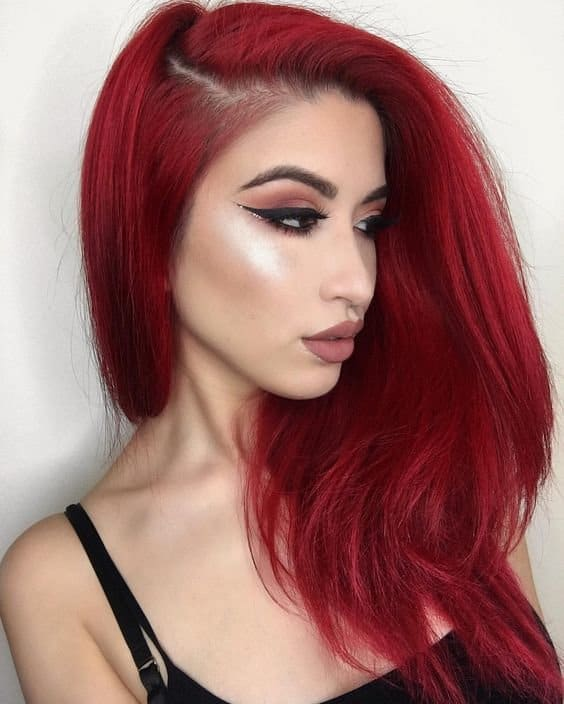 redhead girl with makeup
