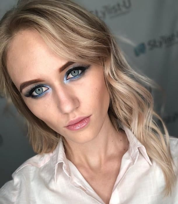 makeup for blonde girl with blue eyes