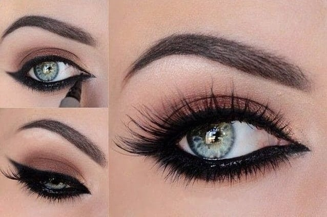 Classic Bronze Eye Makeup for Hooded Eyes