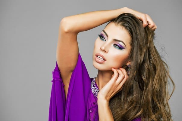 makeup to go with a purple dress