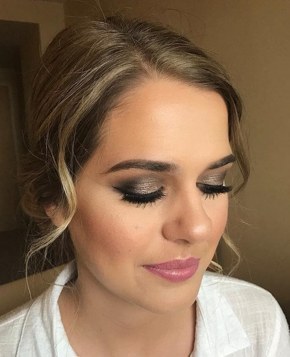 glitter eyeshadow for white dress