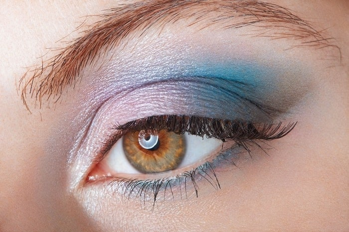 ombre eyeshadow with mermaid look