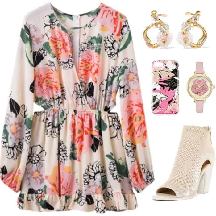 floral dress from polyvore