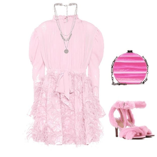 cute pink dress from polyvore