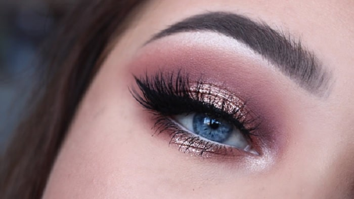 Rose Gold Eyeshadow with Glitter