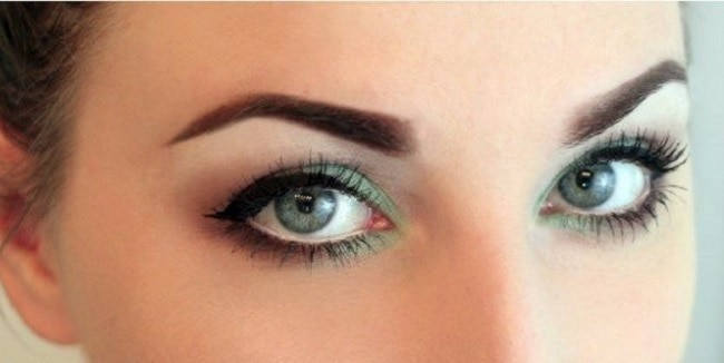 simple teal eye makeup