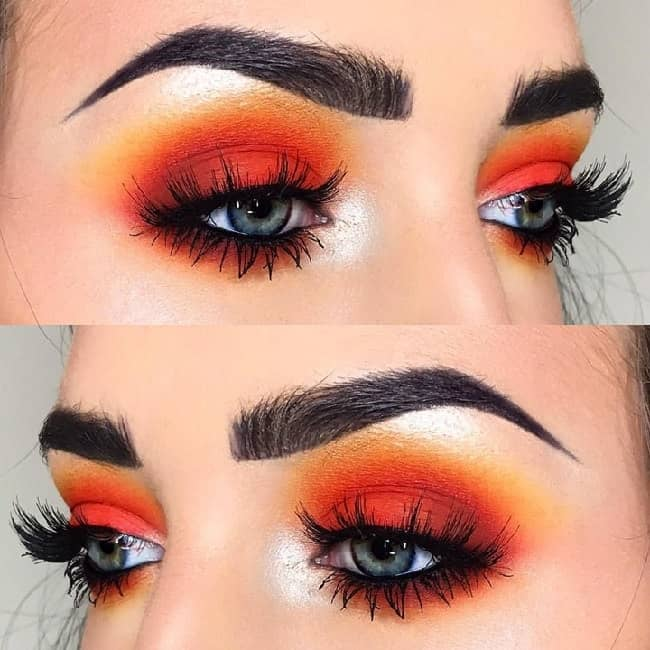vintage orange eyehshadow
