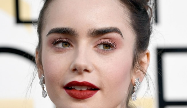 vintage makeup with thick eyebrow