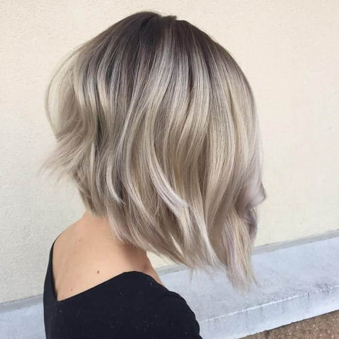 short ash blonde hairstyle