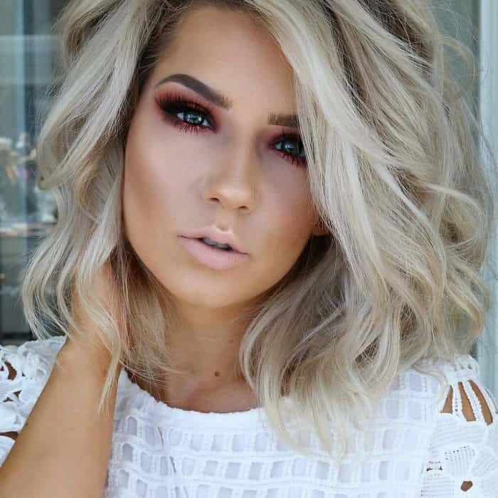 ash blonde color for short hair