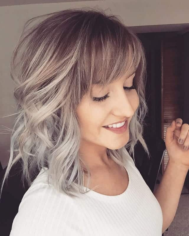 grey ash blonde short hairstyles
