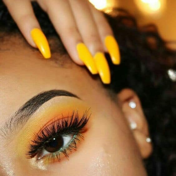yellow matte eyeshadow for women