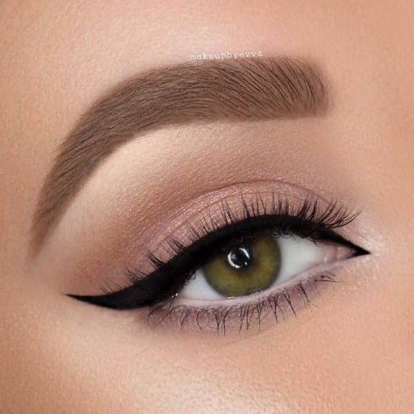 natural matte eyeshadow look for women
