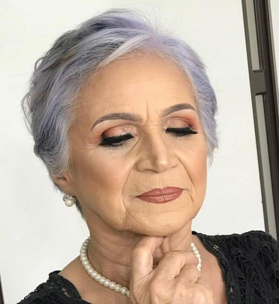 makeup looks for 70 year old women