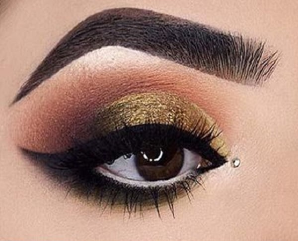 Mustard Makeup for Brown Eyes