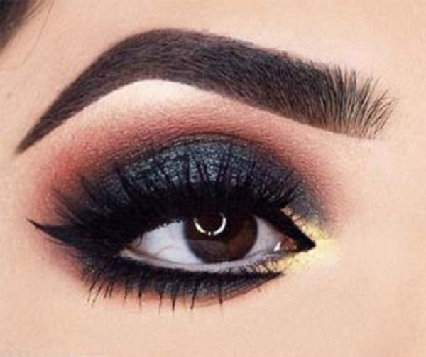 dark blue eye shadow for brown eyes