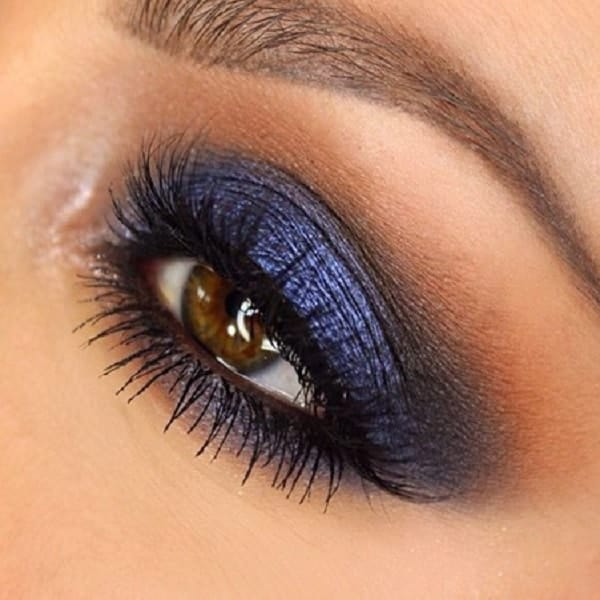 glitter blue eyeshadow for brown eyes
