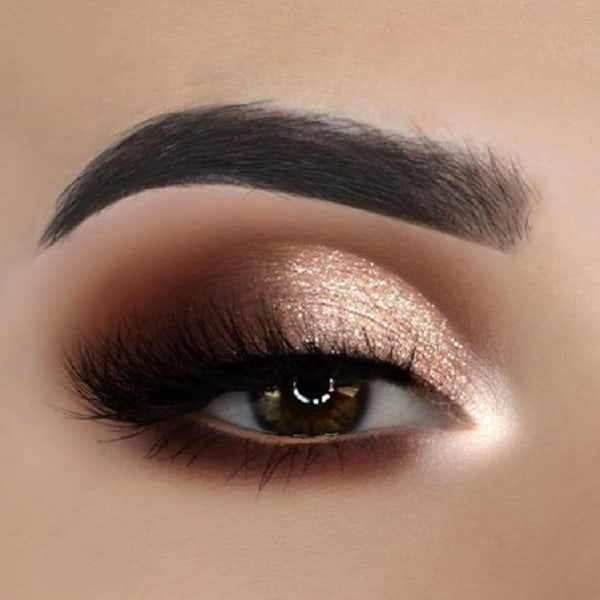 Gold & Copper Makeup for Brown Eyes