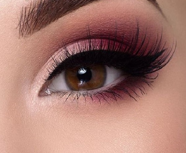 pink eye makeup for brown eyes