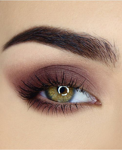 Women with Brown Matte Eyeshadow