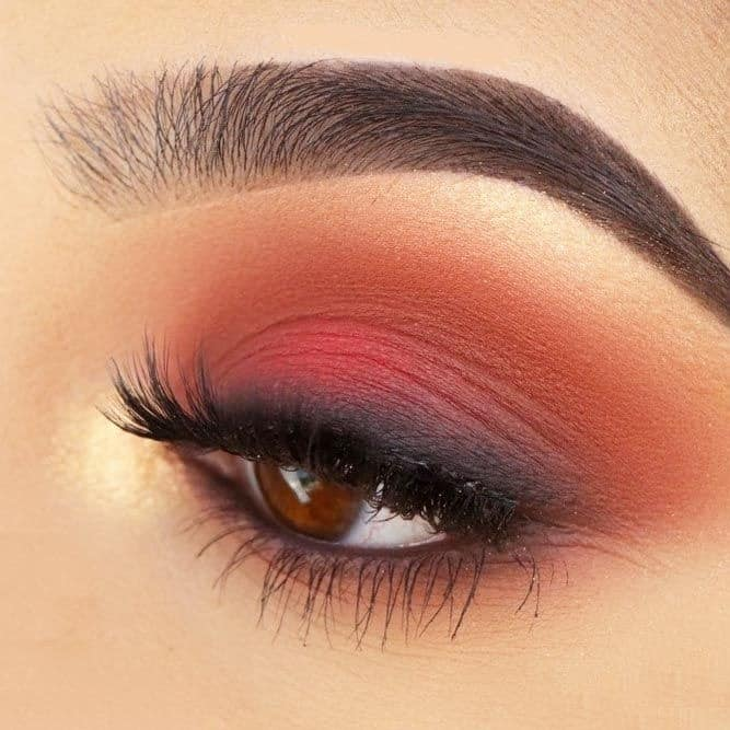 Coral Matte Eyeshadow Look