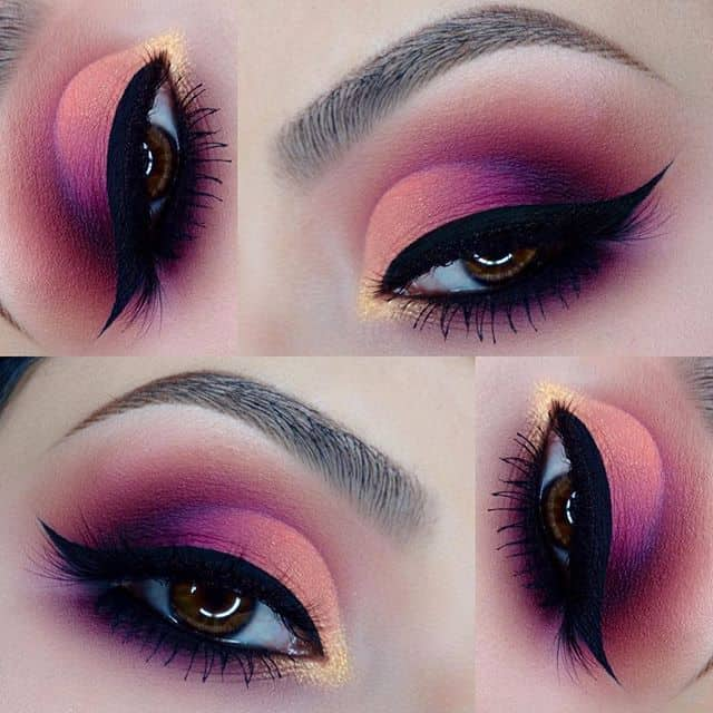 beautiful pink eye makeup for women