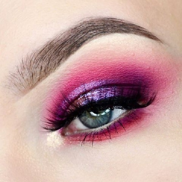 hot pink eye makeup for women