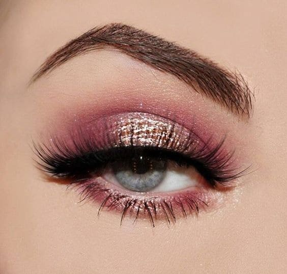 Rose Gold Pink Eye Makeup
