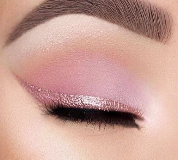 women with pink eye makeup