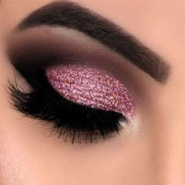 black and pink eye makeup