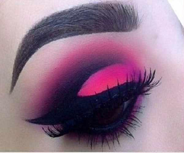 smokey pink eye makeup for women