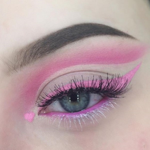 60's Pink Eye Makeup for Women