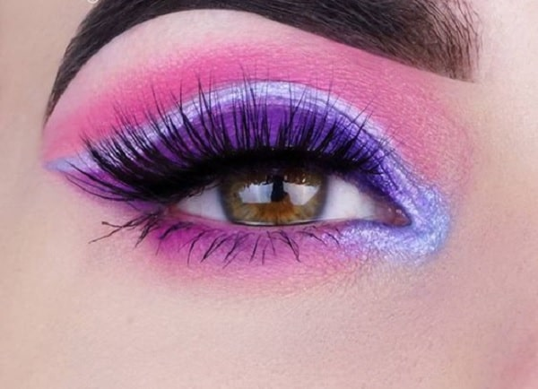 Cotton Candy Pink Eye Makeup